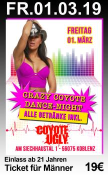 Crazy Coyote Party Night - Männer-Ticket