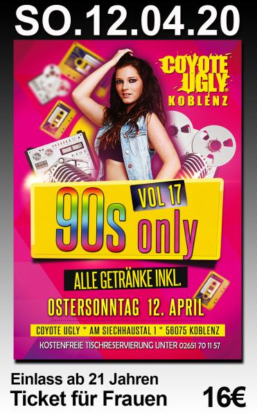 90s only Vol. 17 - Frauen-Ticket