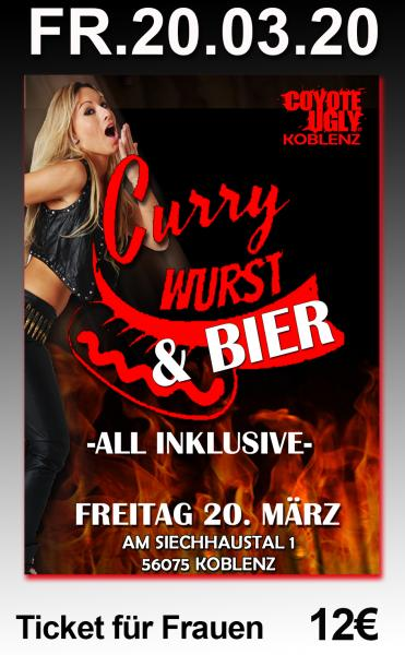 Currywurst & Bier - Frauen-Ticket